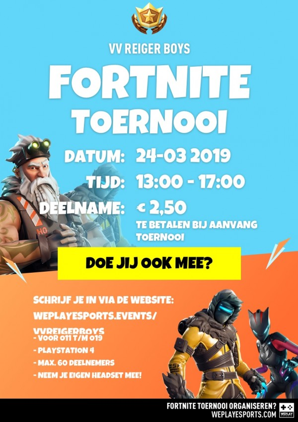 Flyer digitaal Fortnite