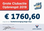 Cheque grote clubactie 2019